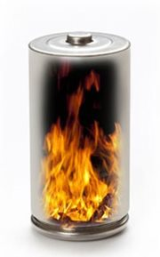 Lithium Battery on Fire