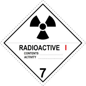 Radioactive Material I-White