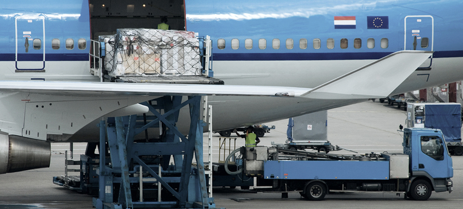 Dangerous goods cargo being loaded into aircraft